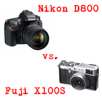 Porovnání - Nikon D800 vs. Fuji X100S