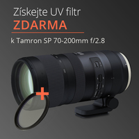 K nákupu objektivu Tamron SP 70-200mm f/2.8 UV filtr jako dárek