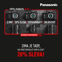 Přituhuje, posíláme ceny Panasonic k ledu! Nakupte fotoaparáty Lumix G i objektivy o 20 % výhodněji