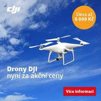 Drony DJI se slevou až 6 000 Kč