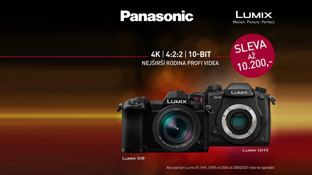 Pořiďte si některou ze špičkových bezzrcadlovek Panasonic LUMIX G9, GH5 a GH5S se slevou až 10 200 Kč
