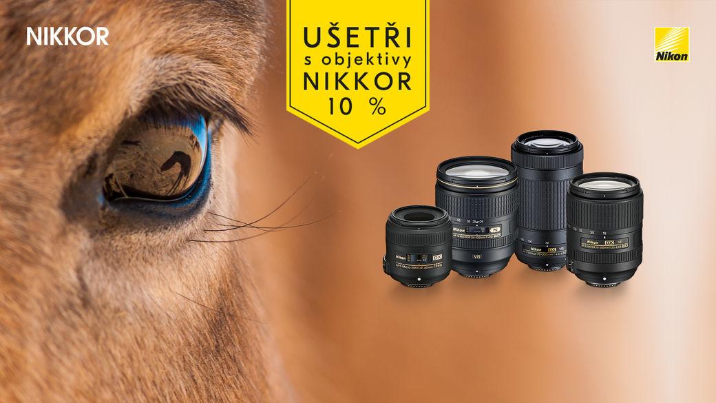 Nepropásněte 10% slevu na objektivy Nikon!