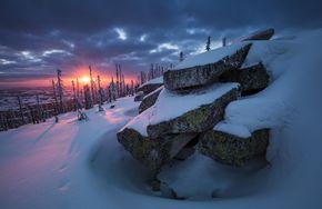 Led a sníh