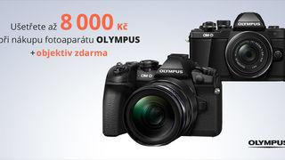 Přijďte si pro fotoaparáty Olympus se slevou 8 000 Kč a objektivem zdarma k vybraným přístrojům - PRODLOUŽENO