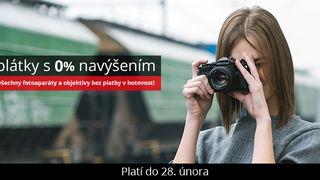 Nakupujte výhodně fotoaparáty a objektivy nyní na splátky a bez navýšení