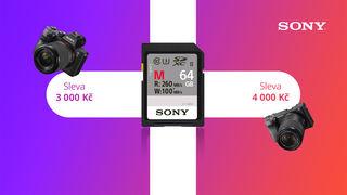 Sleva až 4 000 Kč a rychlá paměťová karta k Sony A6400 a Sony A7 III zdarma!