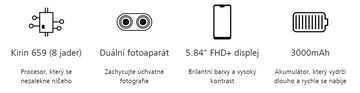 Huawei P20 Lite přednosti   Megapixel