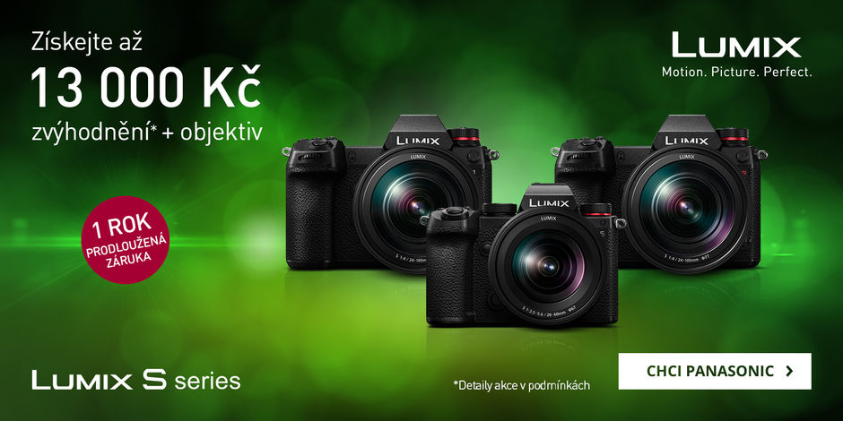 Ušetřete až 13 000 Kč při nákupu fotoaparátů Panasonic