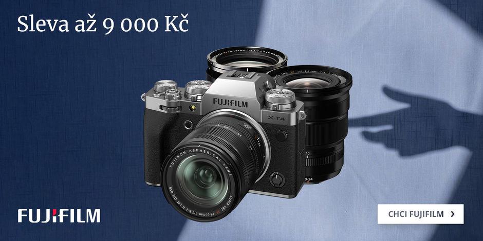 Využijte slevu 9 000 Kč na techniku Fujifilm