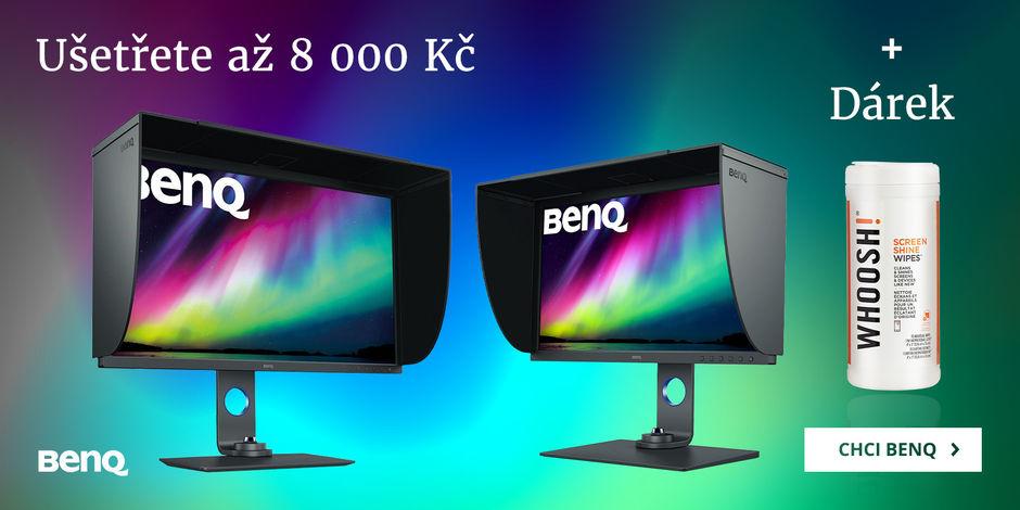 Ušetřete 8 000 Kč s monitory BenQ