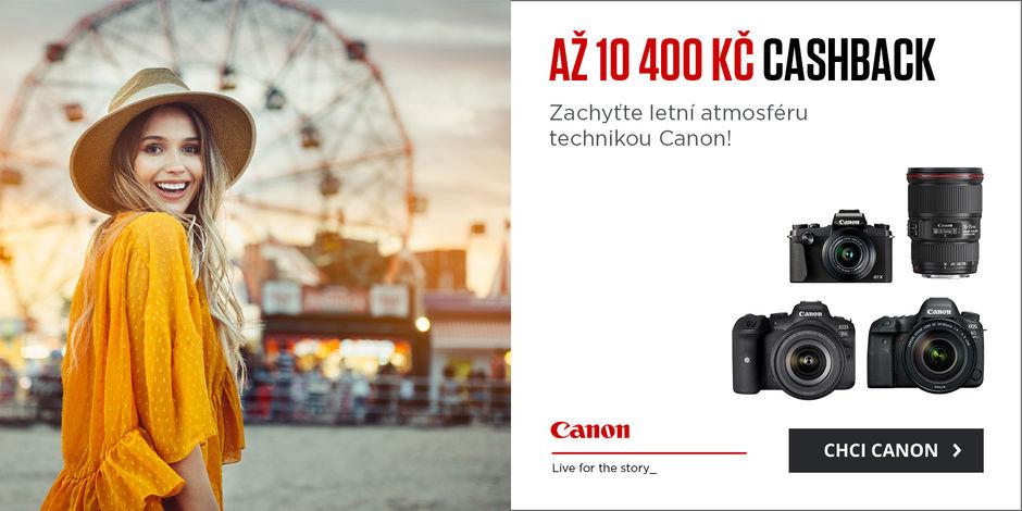 Využijte cashback canon až 10 400 Kč