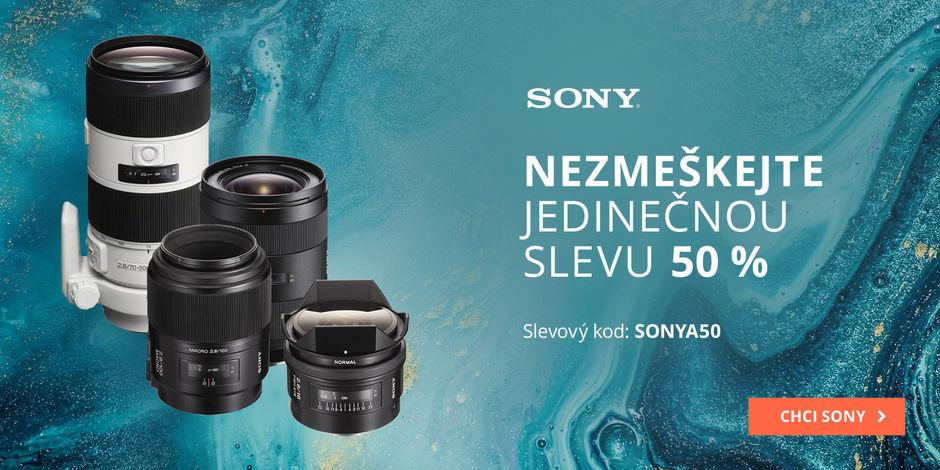 Mega slevy na Sony A objektivy