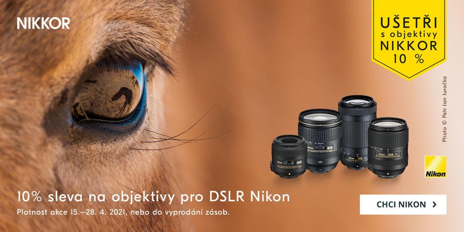 Využijte 10% slevu na objektivy Nikon!