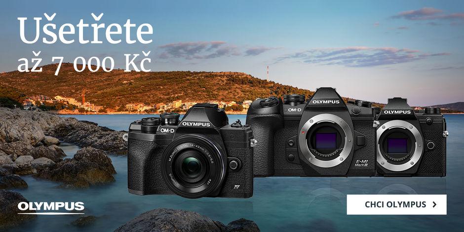 3 fotoaparáty Olympus + 3 krásné slevy až 7 000 Kč