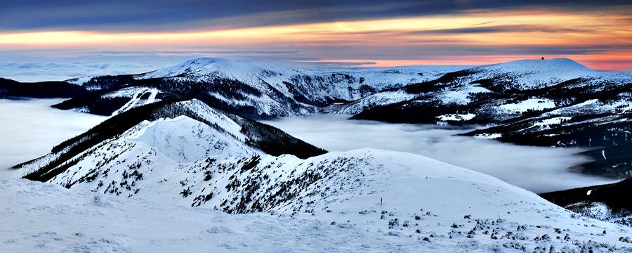 Zimní krajina našich nejvyšších hor