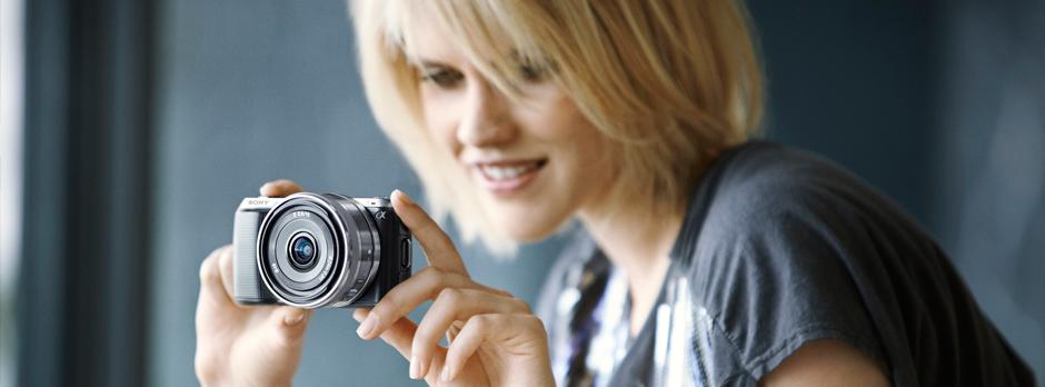 Portrét s fotoaparáty Sony NEX
