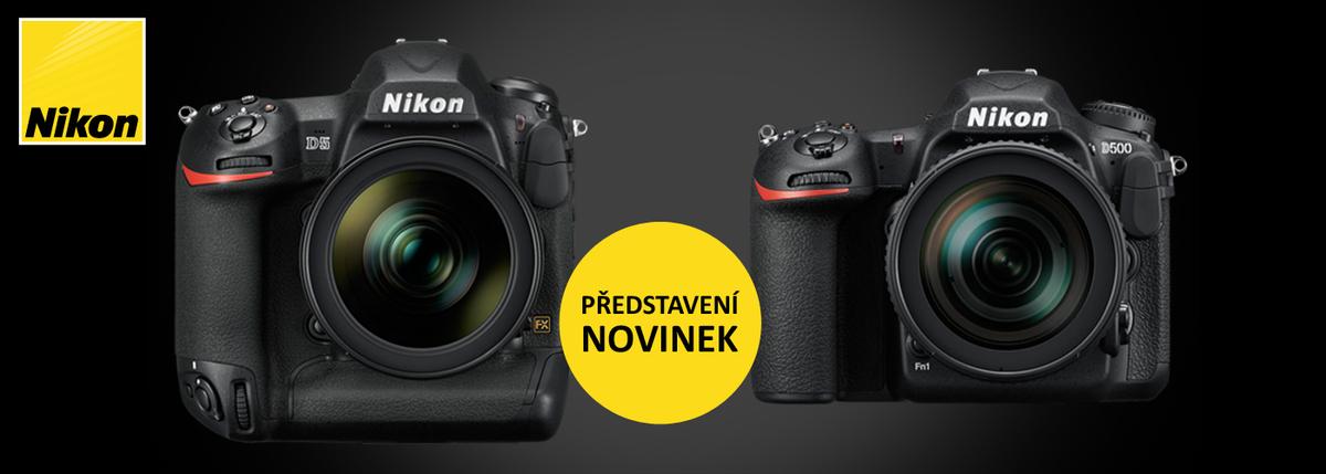 Představení novinek Nikon D5 a D500