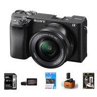 Sony Alpha A6400 + 16-50 mm černý - Foto kit