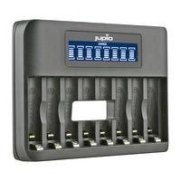 Jupio USB nabíječka s LCD pro 8x AA nebo AAA baterie