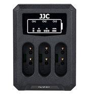 JJC trojitá USB nabíječka pro akumulátor 3× Sony NP-BX1