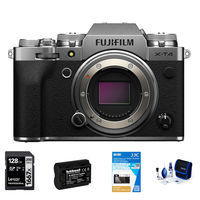 Fujifilm X-T4 tělo stříbrný - Foto kit