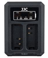 JJC duální USB nabíječka pro akumulátor 2× Olympus BLN-1