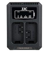 JJC duální USB nabíječka pro akumulátor 2× Nikon EN-EL25