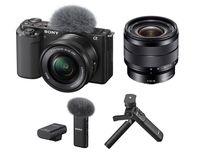 Sony Alpha ZV-E10 + 16-50 mm + Sony 10-18 mm f/4,0 + Sony ECM-W2BT + Sony GP-VPT2BT