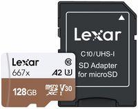 Lexar microSDXC 128GB 667x Professional Class 10 UHS-I U3 A2 (V30)