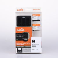 Jupio 2x Battery Packs for GoPro HERO4 + Compact Triple Charger bazar
