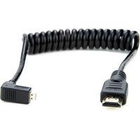 Atomos kabel zahnutý micro HDMI na HDMI kroucený 30 cm