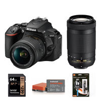 Nikon D5600 + 18-55 mm AF-P VR + 70-300 mm AF-P VR černý - Základní kit