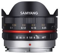 Samyang 7,5 mm f/3,5 pro micro 4/3 černý