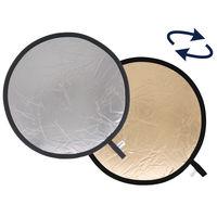 Lastolite odrazná deska kulatá 30cm sluneční oheň/stříbrná