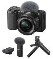 Sony Alpha ZV-E10 + 16-50 mm + mikrofon ECM-W2BT + grip se stativem GP-VPT2BT