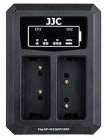 JJC duální USB nabíječka pro akumulátor 2× Fujifilm NP-W126(S)