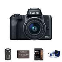 Canon EOS M50 + 15-45 mm + 55-200mm černý - Základní kit