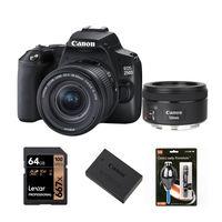 Canon EOS 250D + 18-55 mm IS STM + 50 mm f/1,8 STM černý - Základní kit