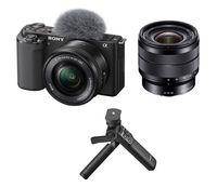 Sony Alpha ZV-E10 + 16-50 mm + Sony 10-18 mm f/4,0 + Sony grip GP-VPT2BT