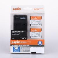 Jupio Kit 2x DMW-BCM13E + USB Single Charger pro Panasonic bazar