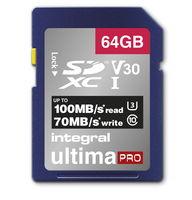 Integral SDXC 64GB Ultima Pro 100 MB/s Class 10 UHS-I U3 V30