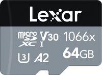 Lexar microSDXC 64GB 1066x Professional Class 10 UHS-I U3 A2 (V30)