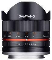 Samyang 8 mm f/2,8 rybí oko II pro Fuji X černý
