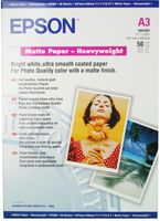 Epson Matte Paper Heavy Weight A3, 50 listů