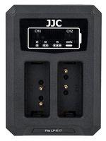 JJC duální USB nabíječka pro akumulátor 2× Canon LP-E17