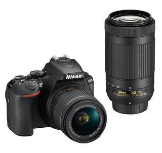 Nikon D5600 + 18-55 mm AF-P VR + 70-300 mm AF-P VR černý - Foto kit