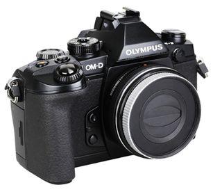 JJC automatická krytka objektivu pro Olympus 14-42mm EZ a Panasonic 12-32mm