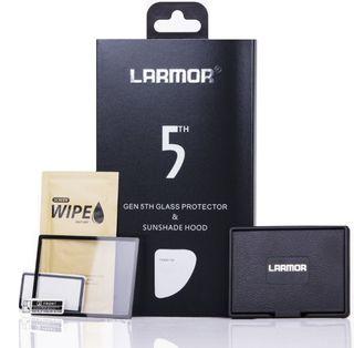 Larmor ochranné sklo na displej pro Nikon D500 + sluneční clona