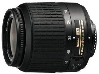 Nikon 18-55 mm F3,5-5,6G AF-S DX STŘÍBRNÝ s LC-52 / LF-1