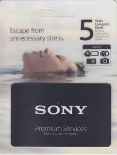 Sony prodloužená záruka na 5 let (2+3) na tělo a objektiv